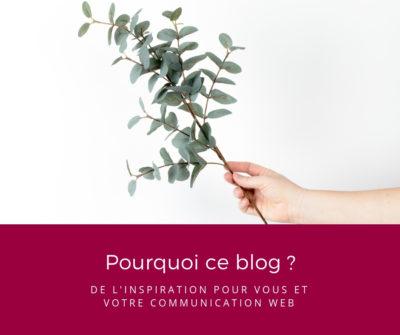 Pourquoi ce blog ? De l'inspiration pour vous et votre communication web