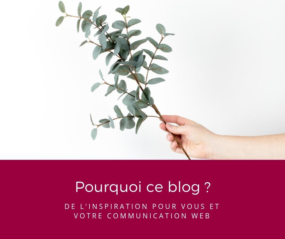 Pourquoi ce blog ? De l'inspiration pour votre communication web